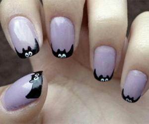 Halloween, nails, and bats image