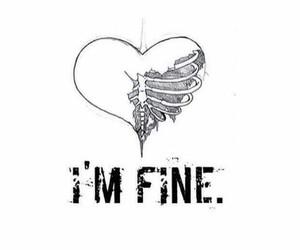 heart, fine, and broken image