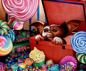 candy, gremlins, and illustration image