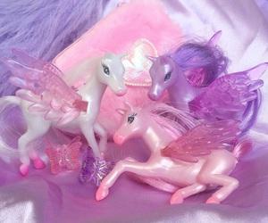 pink, purple, and unicorn image