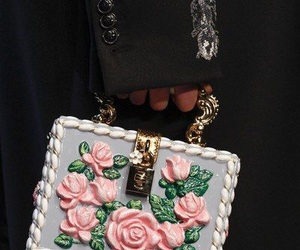 bag, fashion, and rose image