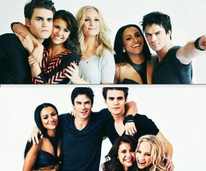 tvd, the vampire diaries, and cast image