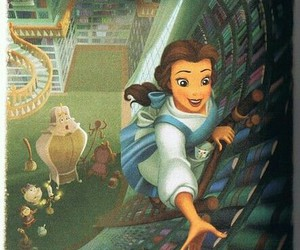disney, book, and belle image