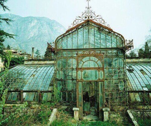 greenhouse, green, and glass image