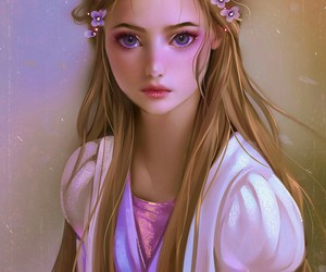 art, rapunzel, and drawing image