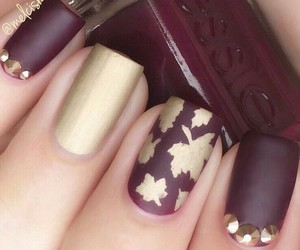 nails, autumn, and manicure image