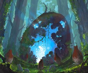 art, egg, and fantasy image
