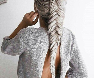 braid, fashion, and grey image