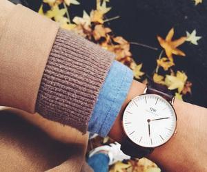 autumn, fashion, and watch image