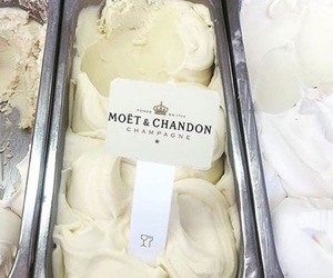 ice cream, food, and champagne image
