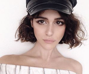 curly, short hair, and style image
