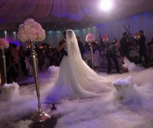 wedding, dress, and couple image
