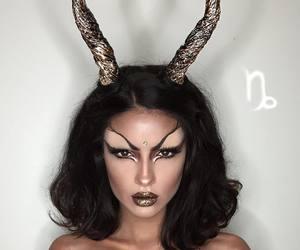 art, Halloween, and capricorn image