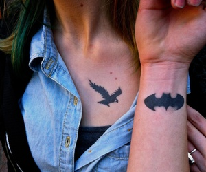 batman, symbol, and tattoo image