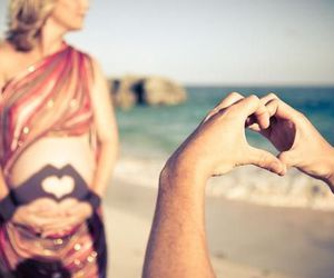 love, pregnant, and heart image