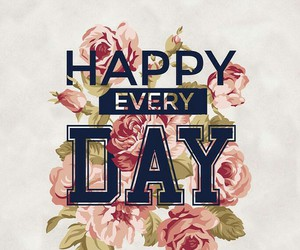 happy, wallpaper, and day image