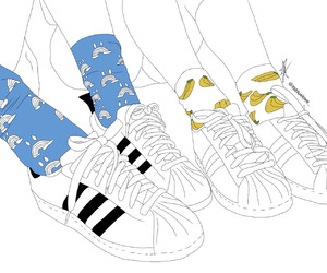 adidas, outline, and banana image