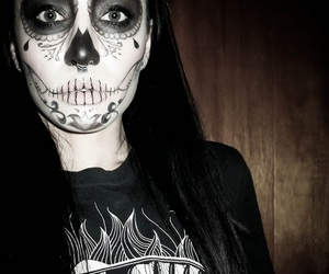 dia de muertos, makeup, and halloween costume image