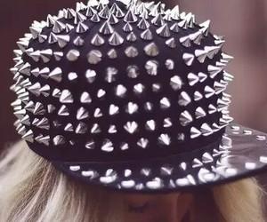 cap, hat, and black image