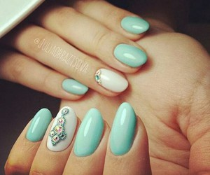 blue, jewellery, and nail image