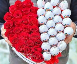 flowers, rose, and kinder image