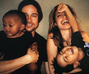 Angelina Jolie, beautiful, and brad pitt image