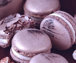 macaroons, food, and purple image