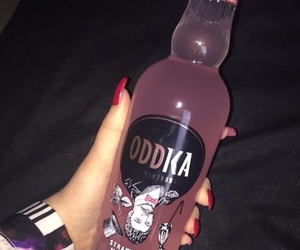 vodka, pink, and alcohol image