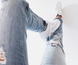 blue, sneakers, and jeans image
