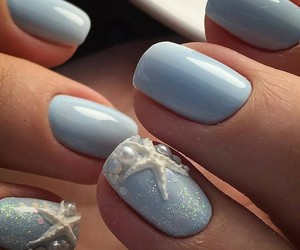 blue, nail, and sea image