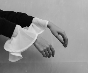 black and white, fashion, and hands image