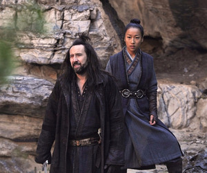 outcast, nicolas cage, and gallain and his wife image