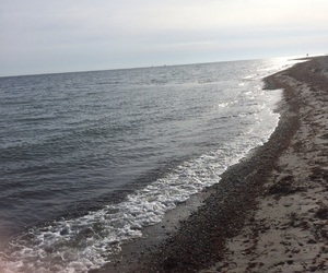 beach, Sonne, and wolken image