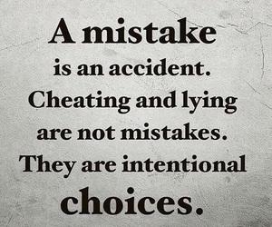 cheating, life, and lying image
