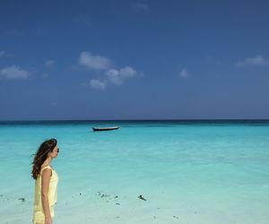 sea, zanzibar, and sky image