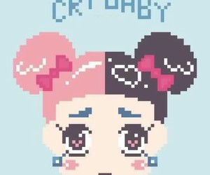 baby, cry baby, and music image