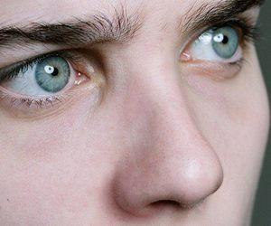 blue, eyes, and frightened image