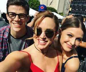 melissa benoist, grant gustin, and Supergirl image
