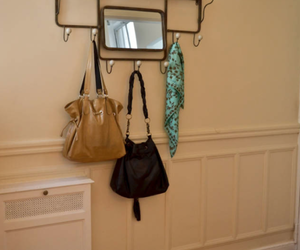 coat rack, home, and mirror image