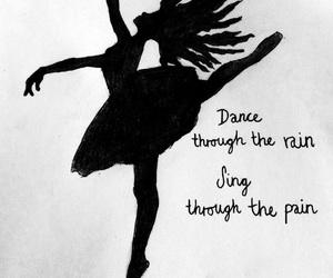 art, ballerina, and blackandwhite image