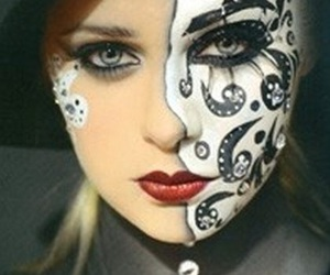 dia de muertos, facial art, and halloween costume image