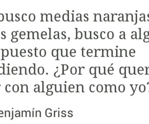 frases, tumblr, and benjamin griss image