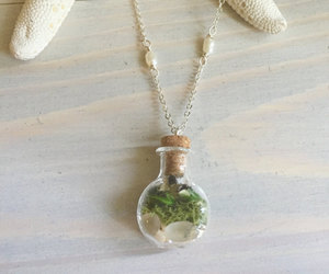 etsy, nature jewelry, and tiny terrarium image