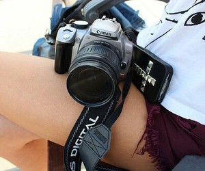 camera, canon, and photographer image