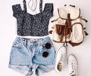 bag, casual, and converse image