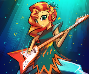 cool, guitar, and MLP image