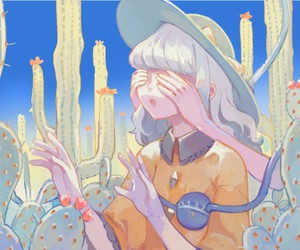 aesthetic, pastel, and anime girl image