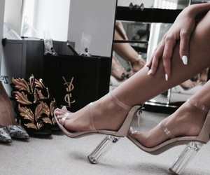 beige, heels, and pretty image
