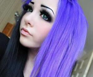 colored hair, eyelashes, and long hair image