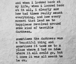 quote, life, and Darkness image